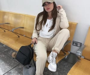 airport, girl, and sweatpants image