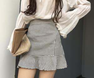blouse, fashion, and handbag image