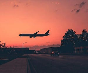 morning and plane image