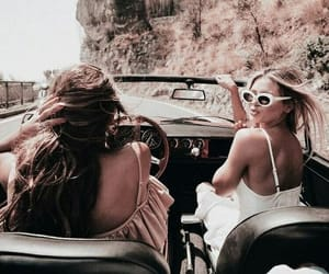 travel, friends, and car image