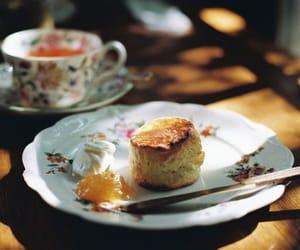 afternoon tea, cream, and jam image