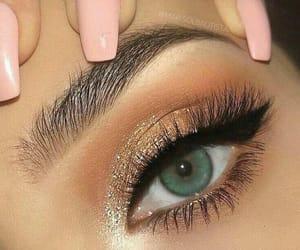 beauty, eye, and eye make up image