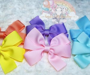 bow, hair accessories, and postive image