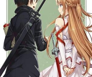 couple, asuna, and cute image