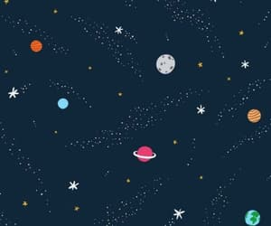 wallpaper, planet, and stars image