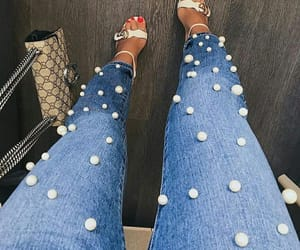 bag, fashion, and denim image