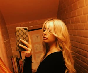 blonde hair, girl, and nose image