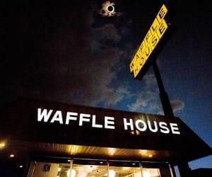restaurant, waffle house, and waffles image