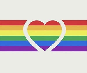 colorful, heart, and lesbian image