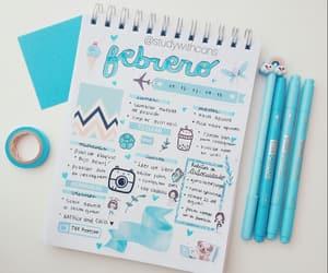 agenda, azul, and blue image