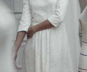 embroidery, gown, and wedding dress image