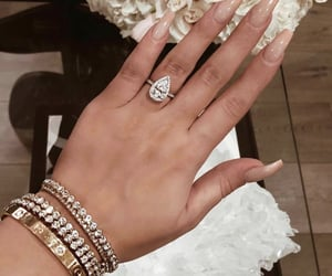 nails, diamond, and style image