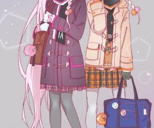 anime girl, beautiful, and sisters image