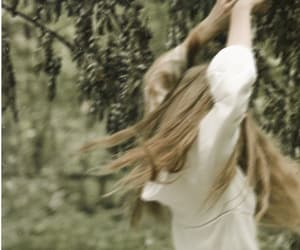 blond hair, forest, and hair image