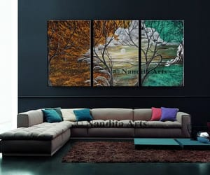 Abstract Painting, etsy, and tree painting image