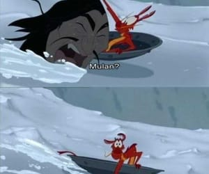 mulan, disney, and funny image