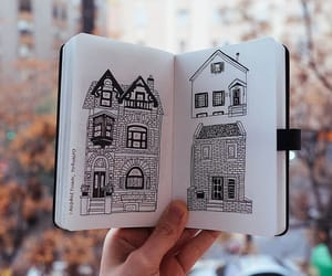 art, drawing, and house image