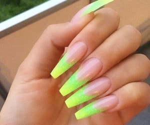 green, nails, and neon image