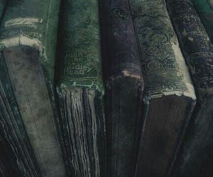 dark, green, and hogwarts image