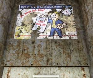 fallout, vault, and vault-tec image