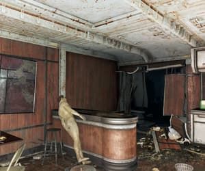 fallout, vault, and wooden kitchen image