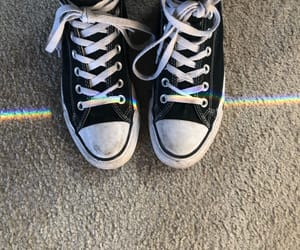 black, converse, and high tops image