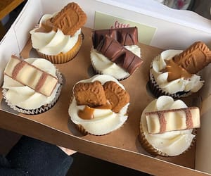 bakery, chocolate, and cupcake image