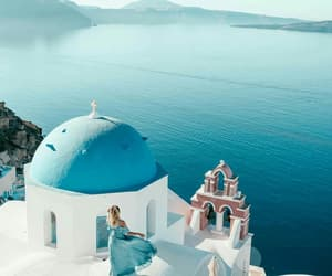 blue, girl, and Greece image