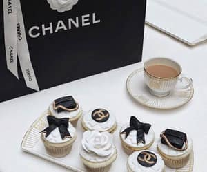 chanel, coffee, and cupcakes image