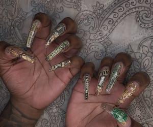 acrylics, nails, and money nails image