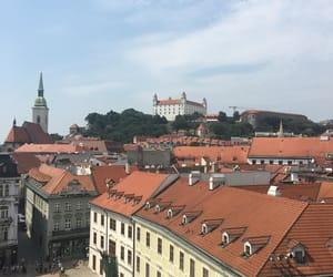 blue sky, bratislava, and building image