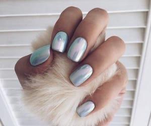 fashion, metallic, and nail art image