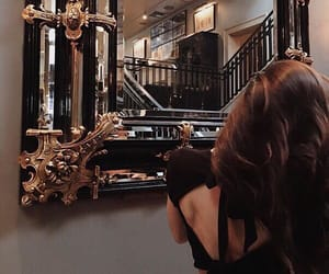 brown, mirror, and girl image