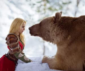 bear, russian, and snow image