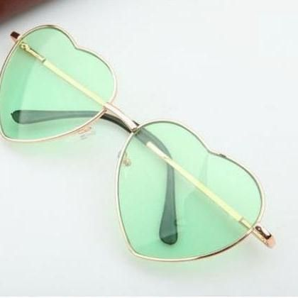 aesthetic, glasses, and green image