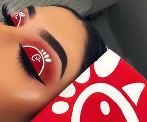 food, girl, and makeup image