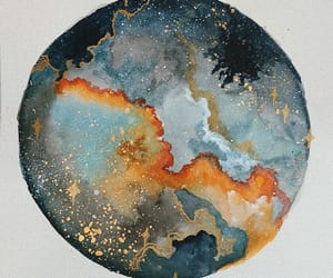 art, stars, and paint image