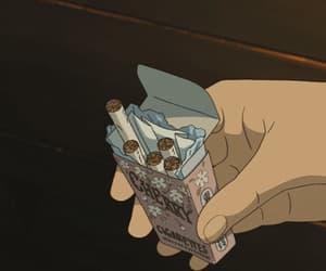 animated, anime, and cigarettes image