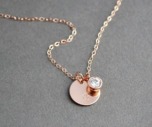 etsy, initial necklace, and initial disc image