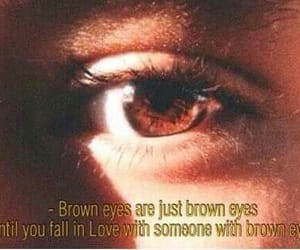 beauty, brown eyes, and words image