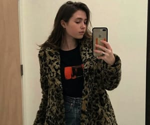 girl, woman, and leopard coat image