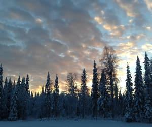 ciel, neige, and nuage image