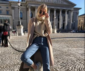 coat, street style, and turtleneck image