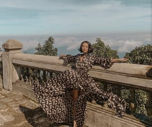 dress, travel, and maxi dress image