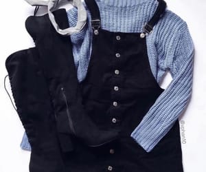 outfit, black, and blue image