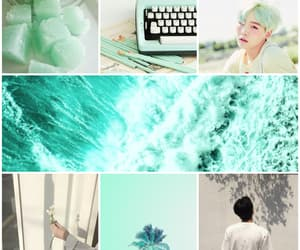aesthetic, blue, and blue mint image