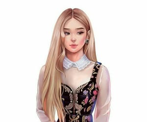 rose, blackpink, and fanart image