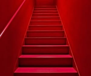 art, red, and stairs image