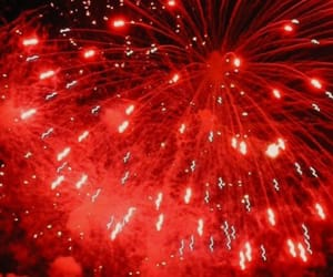 firework, red, and shine image