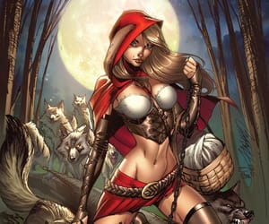 fairytale, little red riding hood, and fantasy image